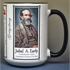 Jubal Early, Battle of Gettysburg biographical history mug.