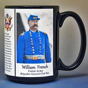 William French, US Civil War biographical history mug.