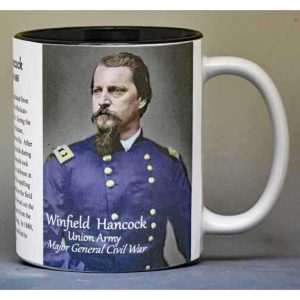 Winfield Scott Hancock Civil War Union Army history mug.