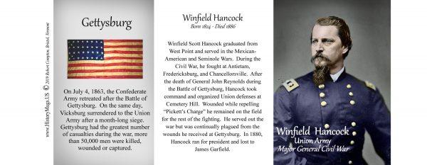 Winfield Scott Hancock Civil War Union Army history mug tri-panel.