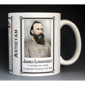 James Longstreet, Antietam history mug.