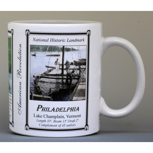 The Philadelphia, American Revolution history mug.