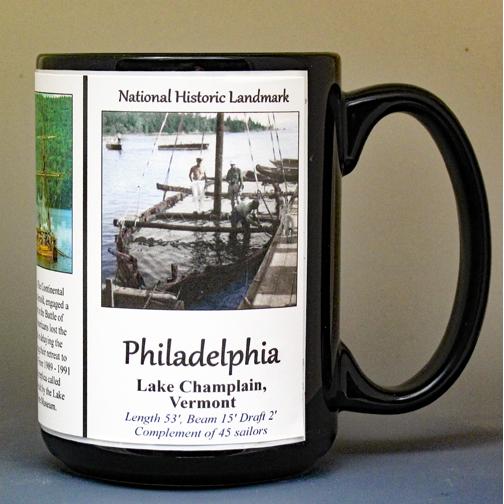 The Philadelphia, American Revolution biographical history mug.