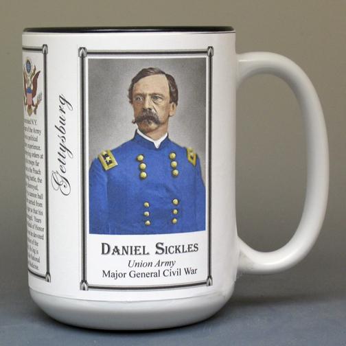 Daniel Sickles, Gettysburg history mug.