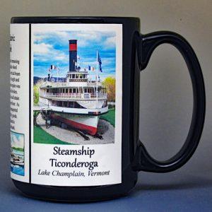 Steamship Ticonderoga, biographical history mug.