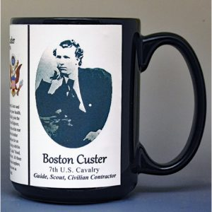 Boston Custer, western guide and scout biographical history mug.