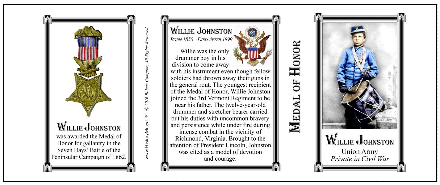 Johnston Willie Medal Of Honor Historymugs Us