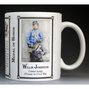Willie Johnston, Medal of Honor history mug.
