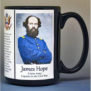 James Hope, Union Army, US Civil War biographical history mug.