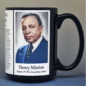 Henry Minton, Sigma Pi Phi Fraternity biographical history mug.