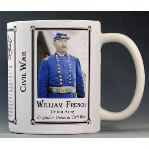 William French Civil War Union Army history mug.
