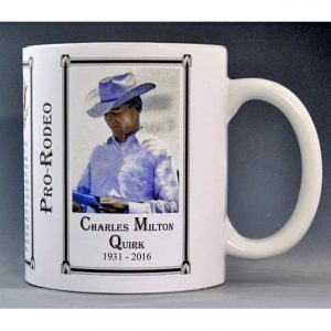 Charles Milton Quirk Pro-Rodeo history mug.