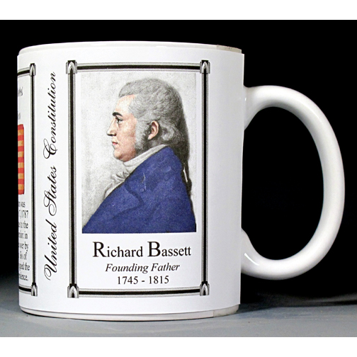 Richard Bassett US Constitution history mug.