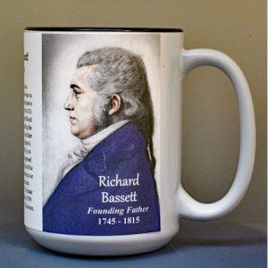 Richard Bassett, US Constitution signatory biographical history mug.