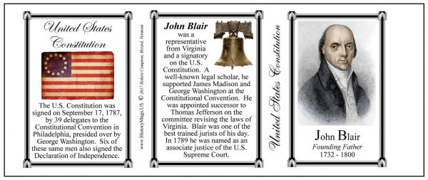 John Blair US Constitution history mug tri-panel.