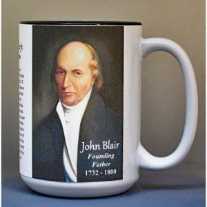 John Blair, US Constitution signatory biographical history mug.