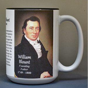 William Blount, US Constitution signatory biographical history mug.