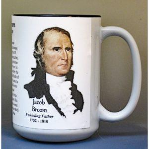 Jacob Broom, US Constitution signatory biographical history mug.