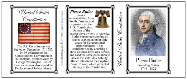 Pierce Butler US Constitution history mug tri-panel.