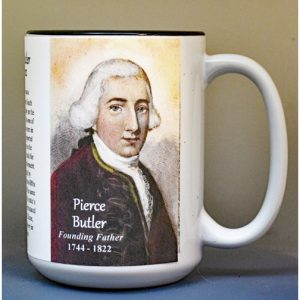Pierce Butler, US Constitution signatory biographical history mug.