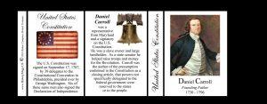 Daniel Carroll US Constitution history mug tri-panel.