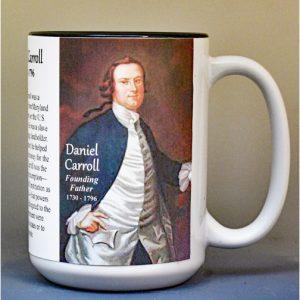 Daniel Carroll, US Constitution signatory biographical history mug.