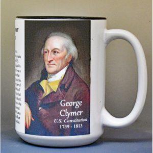 George Clymer, US Constitution signatory biographical history mug.