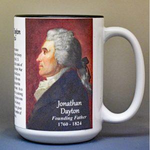 Jonathan Dayton, US Constitution signatory biographical history mug.