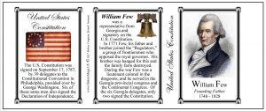 William Few US Constitution history mug tri-panel.