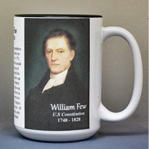 William Few, US Constitution signatory biographical history mug.