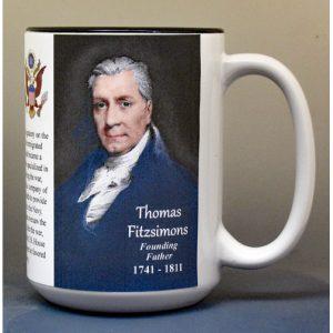 Thomas Fitzsimons, US Constitution biographical history mug.