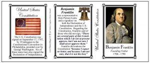 Benjamin Franklin US Constitution history mug tri-panel.