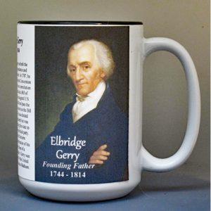 Elbridge Gerry, Declaration of Independence signatory biographical history mug.