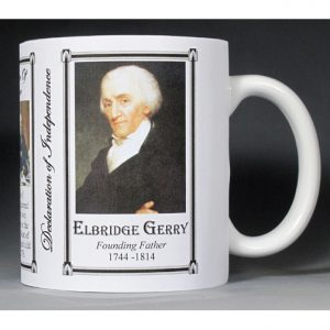 Elbridge Gerry Declaration of Independence signatory history mug.