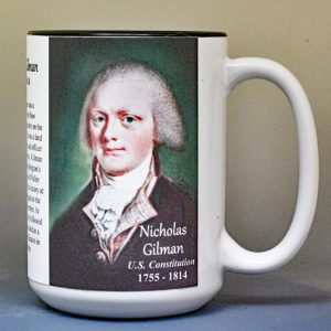 Nicholas Gilman, US Constitution signatory biographical history mug.