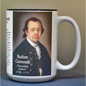Button Gwinnett, Declaration of Independence signatory biographical history mug.