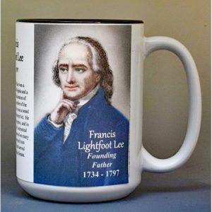 Francis Lightfoot Lee, Declaration of Independence signatory biographical history mug.