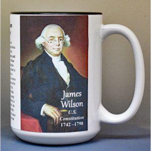 James Wilson, US Constitution signatory biographical history mug.