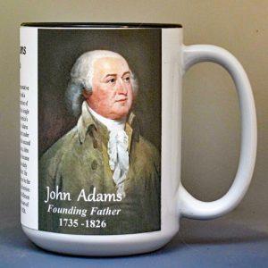 John Adams, Declaration of Independence signatory biographical history mug.