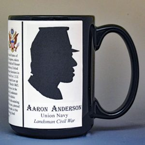 Aaron Anderson, Medal of Honor, US Civil War biographical history mug.