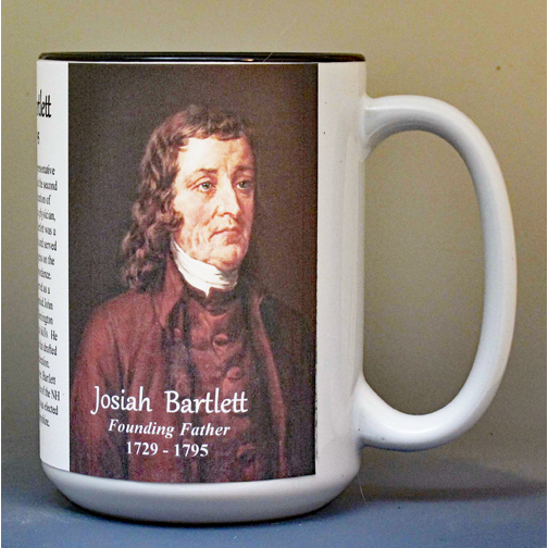 Josiah Bartlett, Declaration of Independence signatory biographical history mug.