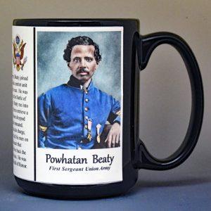 Powhatan Beaty, Medal of Honor, US Civil War biographical history mug.