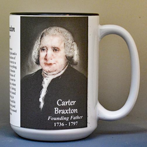 Carter Braxton, Declaration of Independence signatory biographical history mug.