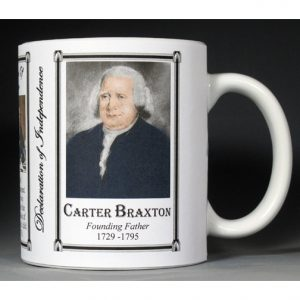 Carter Braxton Declaration of Independence signatory history mug.