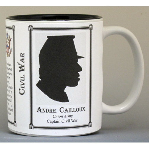 Andre Cailloux, Civil War Union Army history mug.