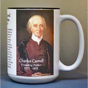 Charles Carroll, Declaration of Independence signatory biographical history mug.