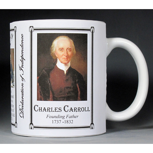 Charles Carroll Declaration of Independence signatory history mug.