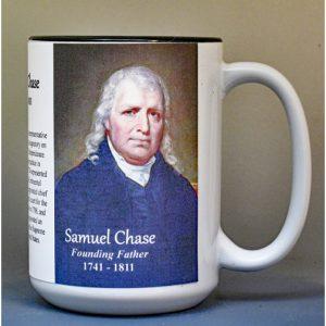 Samuel Chase, Declaration of Independence signatory biographical history mug.