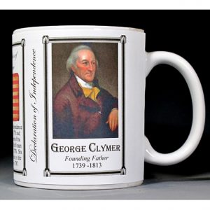 George Clymer Declaration of Independence signatory history mug.