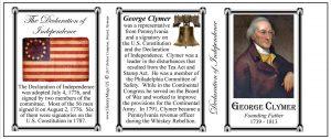 George Clymer Declaration of Independence signatory history mug tri-panel.